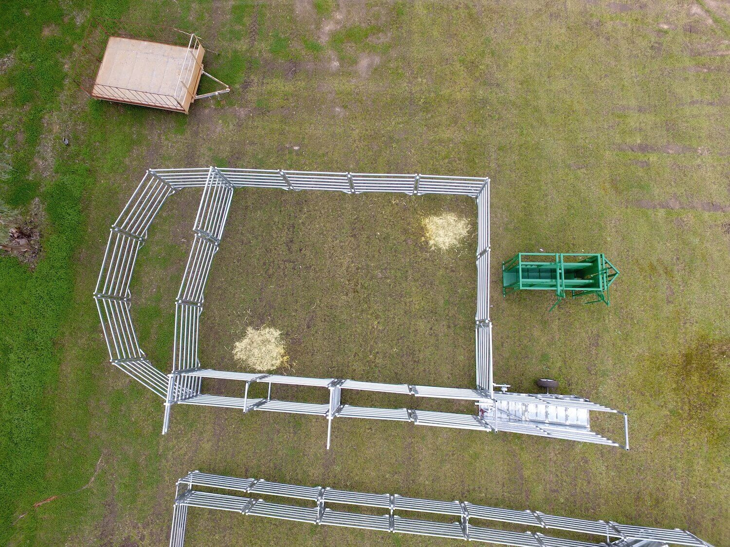 Aerial Cattle Yards Dowerin 25 30 Head